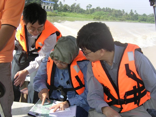 site visit, boat trip, environmental management, professionals