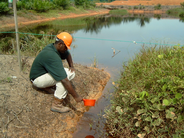 water testing, water quality, oxidation pond